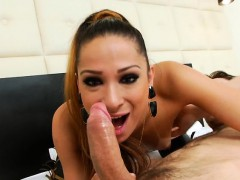 Sexy shemale Bianca Hills and a horny guy ass fucking