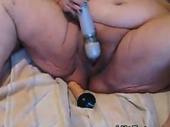 Big Woman Masturbating With Her Toys