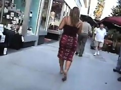 Candid Video Of Her Great Ass In A Skirt