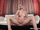Teen Blonde Cindy Loo POV BJ