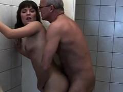 Grandppa Bangs Teen Slut Kathy