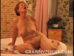 Masturbating Granny Drilled