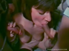 Hairy Pussied Susie Trades In Her Dildo For A Fat Cock