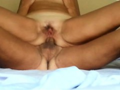 Chubby mature gives her lover an anal ride