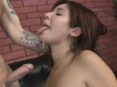 Young Latin Chick Loves Cock In Her Throat