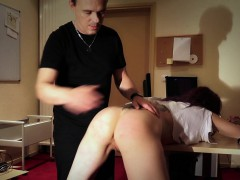 Dirty slave rimming ass and licking toilett