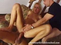sexy blonde amateur honey riding anally