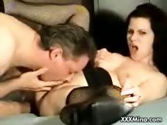 Brunette babe get fucked hard doggy style