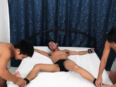 Asian Twink Warren Tied and Tickled