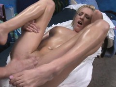 Sexy 18 year old gets fucked hard by her masseur