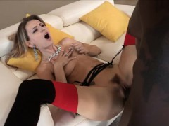Super horny and blonde Natasha Starr gets her pussy hammered
