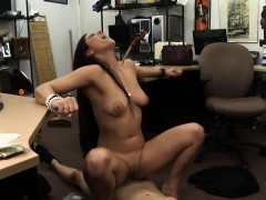 Pretty perky titted babe sells her Cello and nailed