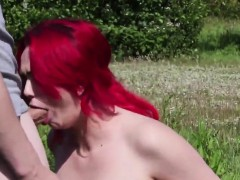 Kinky sex kitten gets cumshot on her face swallowing all the