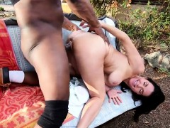 Veronica Avluv squirts all over big black cock