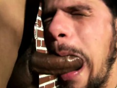 Shemale Smokes A Cigar And Gets A Blowjob