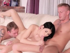 Dude assists with hymen examination and riding of virgin tee