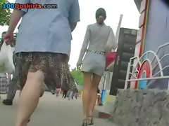 Up skirt hot sexy girl on spy camera