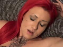 Natalie Hot, Samy Saint and Red Mery threesome fun