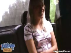 Bratty blonde teen hooked to be pounded at a bus stop