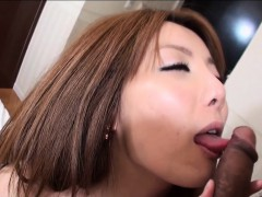 Pleasing Asian Receives Deep Fucking After Soaked Blowjob