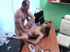 Doctor Jerks Of Touching Big Boobs Of Patient