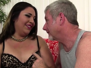 Cute and chubby BBW takes a fat cock deep inside her plump