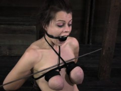 Busty Tiedup And Gagged While Getting Whipped