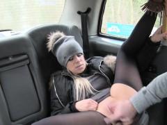 Huge Tits Beauty In Pantyhose Bangs In Cab