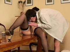 Redhair Amateur Mature Rides A Young Cock