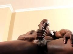 Swat Black Hunk Tugging His Big Tool