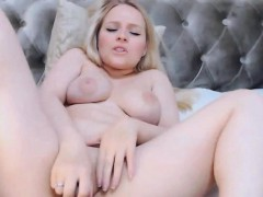 Beautiful Babe With Hot Tits Fucked Herself