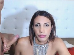 Busty Tranny Makes Love To A Hard Cock