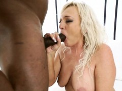 Blacked Old Lady Spits