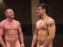Wrestling Stud Punishing Muscular Gay