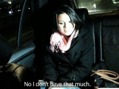 Horny amateur screwed up by taxi driver at the backseat