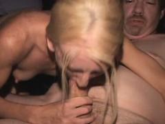 Boney Blonde Babe Banged by Porn Theater