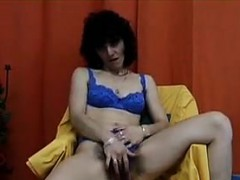 Horny Woman With A Very Hairy Pussy