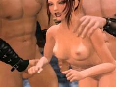 Sexy animated redhead gets banged