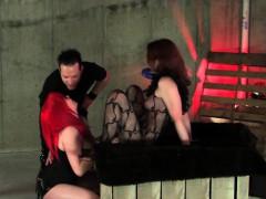 Couple tortured brunette sub