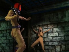 Tasty 3D babe getting toyed and fucked by Magneto