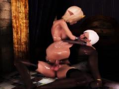 Hentai 3d babe rides shemales hard cock