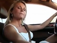Giving A Handjob During A Drive In The Car
