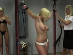 Naked Blonde Got Into The Real Spanking