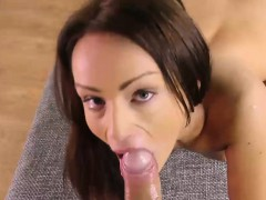 Sophie Lynx eats and fucks cock in POV style