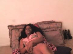 Ebony Whore Masturbates