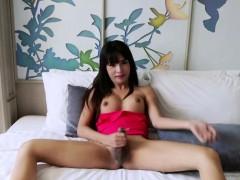 Busty Asian ladyboy Layla E ass fucking