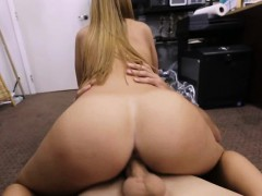 Blonde Beauty Riding Dick On The Floor Of Pawn Shop Office