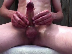 Outside Greasy Cock Ring Enjoyment 480
