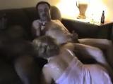 Husband Movies and Masturbates Although Sucking Black Cock
