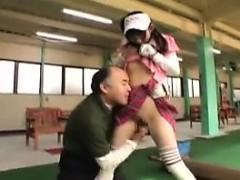 Cute teen has an older man tasting her twat before she blow